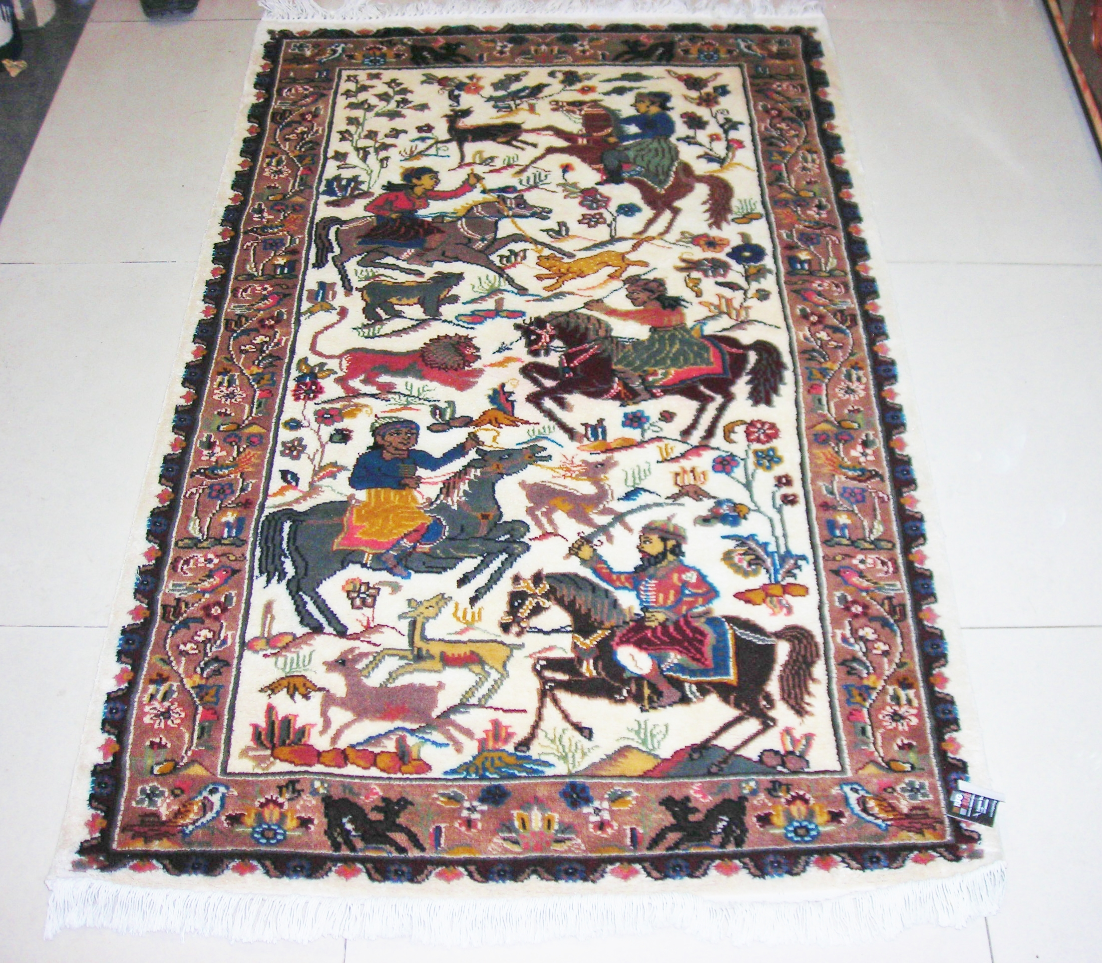 Hunting Silk pictorial 3x5 rug  no. 6716