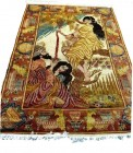Omer Khayyam silk pictorial 4x6 ft no. 67121