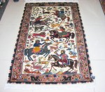 Hunting Silk pictorial 3x5 rug  no. 67161