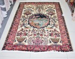 Hunting scenery  Silk pictorial 4x6 rug  no. 67201