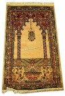 Handknotted prayer  rug 2.5x4 ft no. 20321