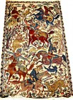 Moghul Hunting silk 3x5 ft persian rug no. 60551