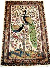peacock silk pictorial 3x5 ft persian rug no. 67881
